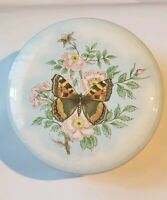 Daher Decorative Ware Butterfly Flowers Round Tin Made in England Vintage Metal