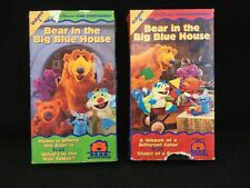 VHS Bear in the Big Blue House - Volume 5 & Volume 1 Lot Of 2