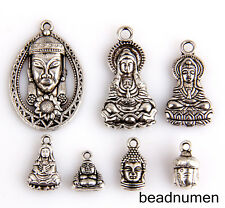 7pcs zinc alloy Mix Buddha style Jewelry Making Pendant findings M7
