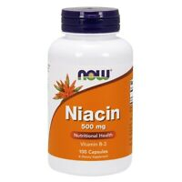Now Foods Niacin 500 mg - 100 Capsules, FRESH, Free Shipping, Made In USA