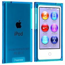 Klar Blau Crystal Hard Case Schale Bumper Schutz Hülle für Apple iPod Nano 7