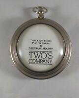 Vintage Two's Company 3x3 photo frame & Keepsake Holder.