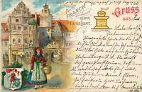 Ansichtskarte Bamberg 1902 Werbung Caffee-Zusatz Franck Tracht  (NR. 815)