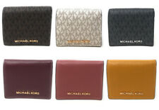 Michael Kors Jet Set Travel Medium Carryall Card Case Wallet Leather Credit Card
