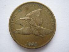 Estados Unidos 1858 centavo Águila Volando vf limpieza viejo