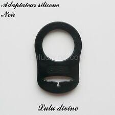 Adaptateur en silicone pour tétine et création attache tétine : Noir