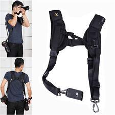 Double Shoulder Belt Sling Rapid Quick Strap for 2 DSLR Digital SLR Camera NEW