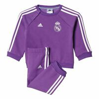 adidas SIZE 3-12 MONTH BABY REAL MADRID MINI INFANT JOGGER FULL TRACKSUIT PURPLE