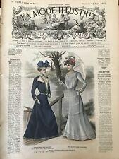 MODE ILLUSTREE SEWING PATTERN April 14 ,1901 Simple costume, Dresses, Corset...