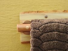 Log Towel Rack 8-inches (Clear) Use for Hand Towel Rack, Kitchen or Rustic Bar