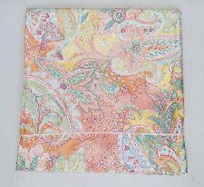 "Ralph Lauren Jamaica Paisley Coral Tropical Window Panel Curtain 40x81"" EUC"