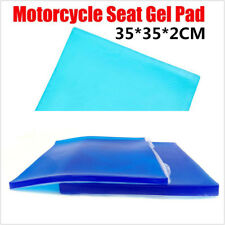 DIY 2cm Blue Silicone Gel Cushion Motorcycles Seat Modified Cover Mat 35cmX35cm