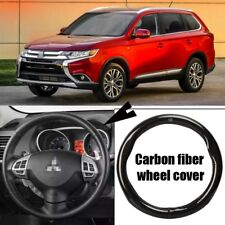 For Mitsubishi Outlander Carbon Fiber Leather Steering Wheel Cover Sport Racing