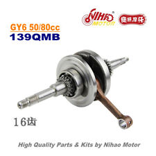 TZ-30A 50cc 80cc Crankshaft 16 Teeth GY6 Parts Chinese Scooter 139QMB Motorcycle