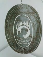"Pow Mia You Are Not Forgotten Outdoor Sign 11 X 8"" Oval Metal Sign"