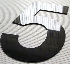 Hausnummer Hochglanz Schwarz 9H01 Acryl - Türnummer - Nummer - Plexiglas