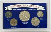 Americana Series 5 US Coin Set 1930-1943 in Plastic Holder