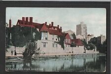 L@@K  Old Palace and River Maidstone Kent 1900's? Postcard