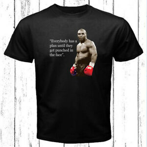 Mike Tyson Famous Boxing Champion Quote Logo Men's Black T-Shirt Size S-3XL