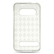 For Sprint HTC EVO 4G TPU CANDY FLEXI Skin Case Phone Cover Crystal Clear Plaid