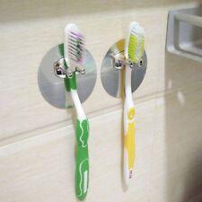 2Pcs Toothbrush Holder Mount Rack Stand Organizer Wall Hook Bathroom Kitchen