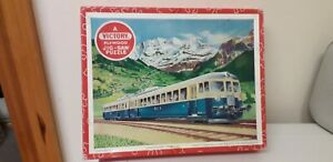 VINTAGE...WOODEN JIGSAW PUZZLE...VICTORY..PLYWOOD PUZZLE...SWISS ELECTRIC TRAIN