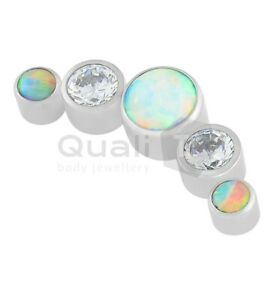 The 'Wedding Day' 5 Stone Cluster Labret Stud Ear body Piercing
