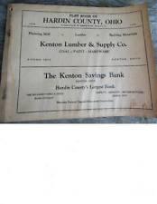 1939 Hardin County Ohio Farm Plat Book w/ Maps & Advertisements