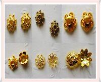 160-200 Perlenkappen Endkappen Gold Mix  6mm-10mm Basteln DIY