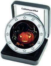 2 Euro € Halloween 2018,  coloriert, NEU mit Zertifkat nur 2.500 Stück weltweit