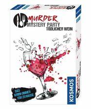 Kosmos Spiel Murder Mystery Party - Tödlicher Wein | Partyspiel | Krimi Dinner