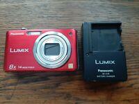 Panasonic LUMIX DMC-FH20 14.1MP Digital Camera - Red + charger