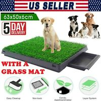 Large Dog Pet Potty Training Pee Pad Mat Puppy Tray With Grass Indoor 3 Layers