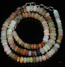 """80 Ctw 1Necklace 4.5to7mm16""""Beads Natural Genuine Ethiopian Welo Fire Opal RR402"""