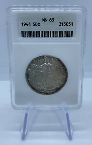 1944 Liberty Walking Half Dollar - ANACS MS63 - old Soapbox Holder