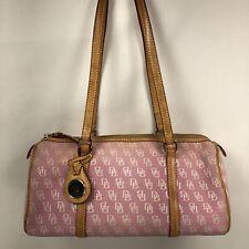 Dooney and Bourke Pink DB Monogram small Barrel Bag