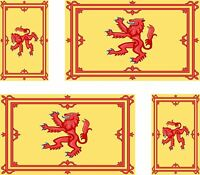 Set of 4x sticker vinyl car bumper decal outdoor world flag scotland royal lion