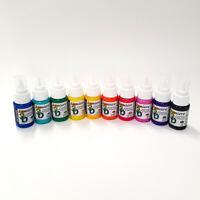 Jacquard Lumiere 3D Metallic Paint & Adhesive Set of 10 Bright Colours