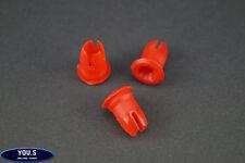 10 x rote Mercedes Benz Druckknöpfe Tülle Zierleisten 0019882081 R107 W108 W109
