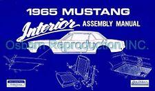 Mustang Assembly Manual Interior 1965 - Osborn Reproductions
