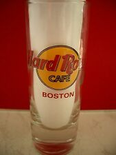 HRC Hard Rock Cafe Boston Classic Logo Red Letter Shot Glass Schnapsglas New