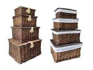 Strong Oak Wicker Picnic Gift Storage Xmas Christmas Empty Hamper Basket Gift