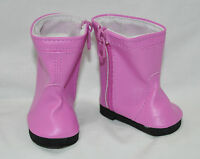 "American Girl Doll Our Generation Journey Girl 18"" Doll Clothes Shoes Pink Boots"