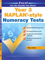 Excel Year 3 Naplan- Style Numeracy Tests - Brand New Edition