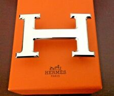 Hermes Belt Buckle 42mm Brushed Silver Palladium