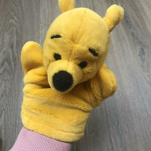 Pooh Bear Hand Puppet Mattel Disney Vintage Great Condition