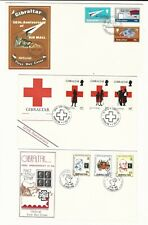 Gibraltar: Lot of 6 different first day covers different thematics. GI44