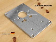 ALU Befestigungsplatte Einlegeplatte für Frästisch Bosch GKF 12V-8 Professional