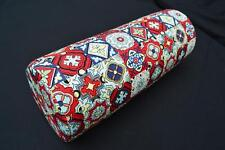 LF812g  Red Yellow Blue White Cotton Canvas Neck Yoga Bolster Case Pillow Cover