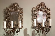 Matched pair of C19th girandole